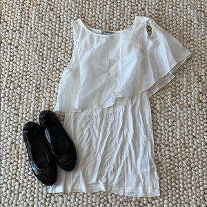 BARASCHI White One Shoulder Top Size XS